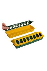 kuikenvoerbak kunstof geel/groen
