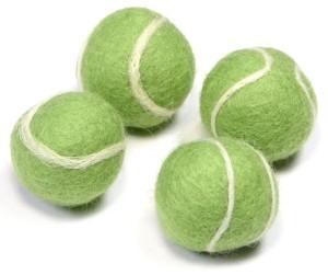 Tabby Tijger - Merinowollen Tennis Toverballen