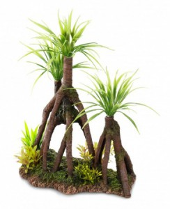 Decor wood met planten