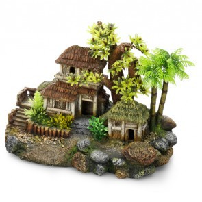 Wooden House With Tree