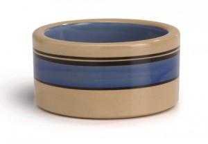 Keramiek eetbak met blauwe band