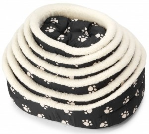 Pet bed pootjes met sheepskin