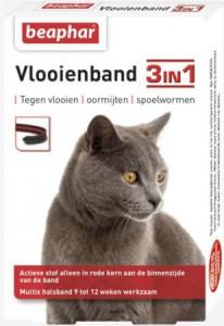 Beaphar - 3 in 1 katten vlooienband