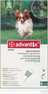 Productafbeelding voor 'Advantix - Hond 40 (0-4kg)'