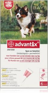 Advantix - Hond 250 (10-25kg)