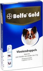 Productafbeelding voor 'Bolfo Gold - Hond 40 (tot 4kg)'
