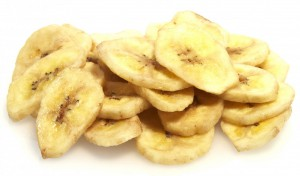 Bananenchips gedoopt in honing 200gr