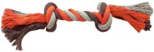 Productafbeelding voor 'Dogtoy knoop katoen Grijs/Oranje'