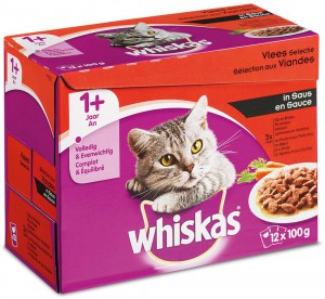 Whiskas Adult - Vlees (12x100gr)