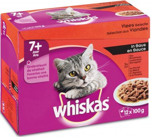 Whiskas Senior - Vlees (12x100gr)