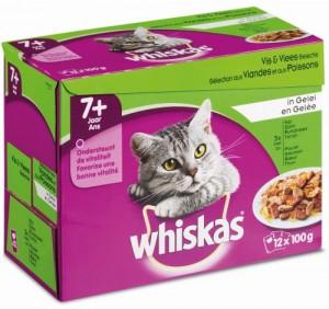 Whiskas Senior - Vlees/Vis - Gelei (12x100gr)