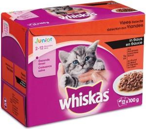 Productafbeelding voor 'Whiskas Junior - Vlees (12x100gr)'