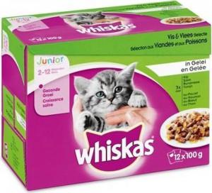 Productafbeelding voor 'Whiskas Junior - Vlees/Vis (12x100gr)'