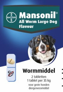 Productafbeelding voor 'Mansonil - All worm large dog flavour'