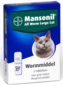 Productafbeelding voor 'Mansonil - All worm large cat'