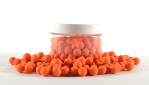 Mini Pre Drilled Boilies 100gr orange - garlic