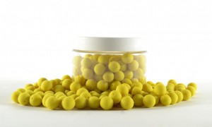 Mini Pre Drilled Boilies 100gr yellow - pineapple