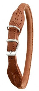Karlie - Halsband Buffalo Round Gestikt (bruin)
