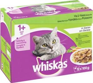 Productafbeelding voor 'Whiskas Adult - Vlees/Vis (12x100gr)'