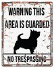 D&D - Waarschuwingsbord Square Terrier (wit)