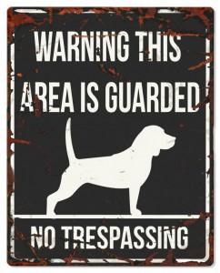 D&D - Waarschuwingsbord Square Beagle (zwart)