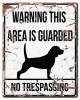 D&D - Waarschuwingsbord Square Beagle (wit)