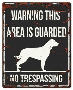 D&D - Waarschuwingsbord Square Rottweiler (zwart)