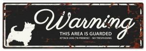 D D Waarschuwingsbord Terrier (zwart)