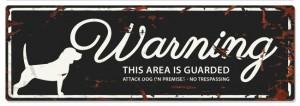 D&D - Waarschuwingsbord Beagle (zwart)