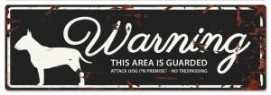 D&D - Waarschuwingsbord Bull Terrier (zwart)