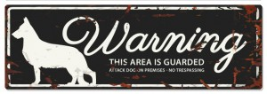 D&D - Waarschuwingsbord German Shepherd (zwart)