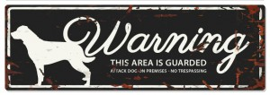 D&D - Waarschuwingsbord Rottweiler (zwart)