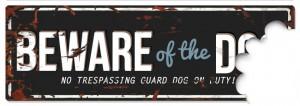 D&D - Waarschuwingsbord Beware of the Dog (zwart/blauw)