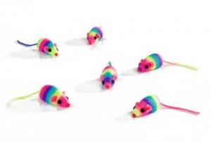 Beeztees - Rainbow Speelmuisje