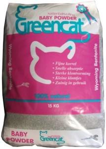 Greencat - Babypoeder Kattenbakvulling