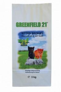 Greenfield Kitten Kip & Rijst Brokken 3kg