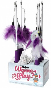 Kattenhengel - Telescoop Purple/White