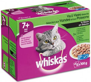 Whiskas Senior - Vlees/Vis (12x100gr)