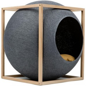 Meyou - Cube met hout Donkergrijs