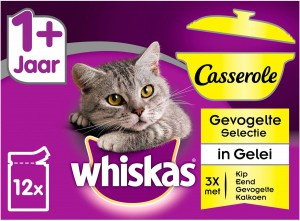 Whiskas Casserole Adult Gevogelte Selection