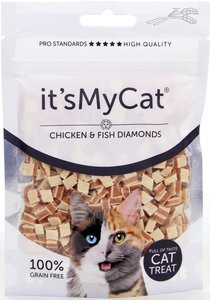 it's My Cat Chicken & Fish Diamonds 50gr.