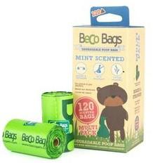 Beco-Bags Poepzakken Mint, 22,5 x 33 cm