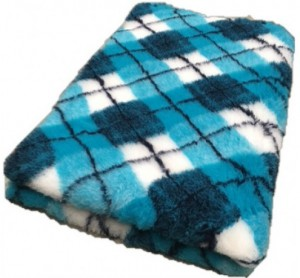 Vetbed - Diamond Ruit- Turquoise Blauw Wit Antislip
