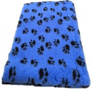 Vetbed - Kobaltblauw met Zwarte Voetprint Antislip