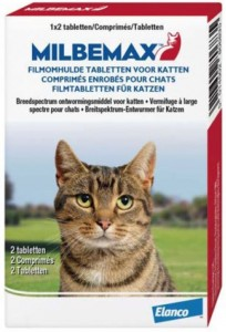 Milbemax Grote Kat 2 Tabletten