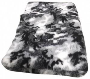 Vetbed - Camouflage Grijs, Latex Antislip