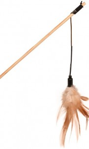 Petlando - Speelhengel met touw en veren