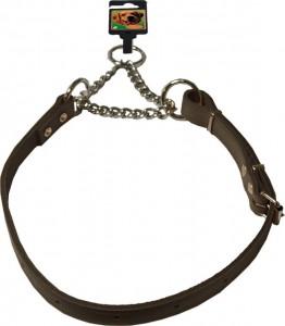 De Boon - Kettingsliphalsband verstelbaar, donkerbruin.