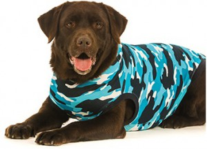 Suitical Recovery Suit Hond - M - Blauw Camouflage