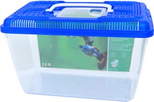Plastic Aquarium + Blauw Deksel